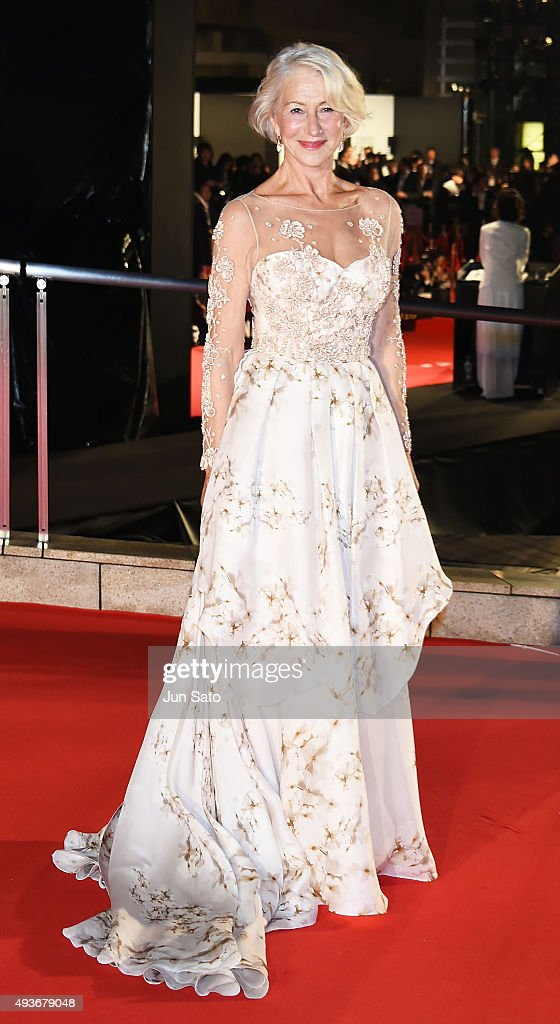 <a gi-track='captionPersonalityLinkClicked' href=/galleries/search?phrase=Helen+Mirren&family=editorial&specificpeople=201576 ng-click='$event.stopPropagation()'>Helen Mirren</a> attends the opening ceremony of the Tokyo International Film Festival 2015 at Roppongi Hills on October 22, 2015 in Tokyo, Japan.