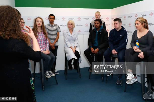 "Helen Mirren attends the The Princes Trust and L'Oreal Paris launch of the ""All Worth It"" programme which will transform selfdoubt into selfworth for..."