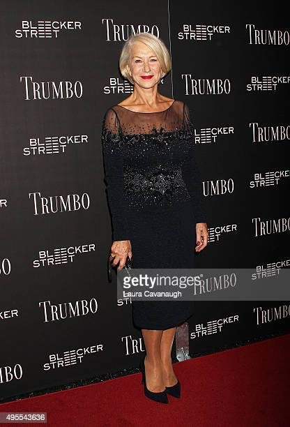 Helen Mirren attends the 'Trumbo' New York premiere at MoMA Titus Two on November 3 2015 in New York City