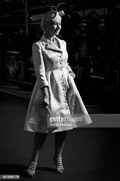 Helen Mirren attends the 'Trumbo' premiere during the London Film Festival at the Odeon Leicester Square on October 8 2015 in London England