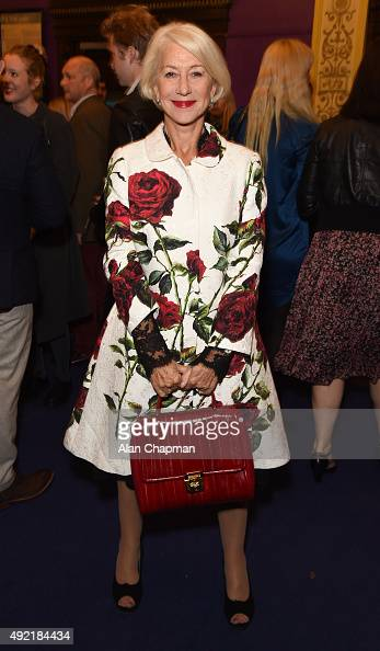 Helen Mirren attends the UK Premiere of 'Live From New York' during the BFI London Film Festival at Cineworld Haymarket on October 10 2015 in London...