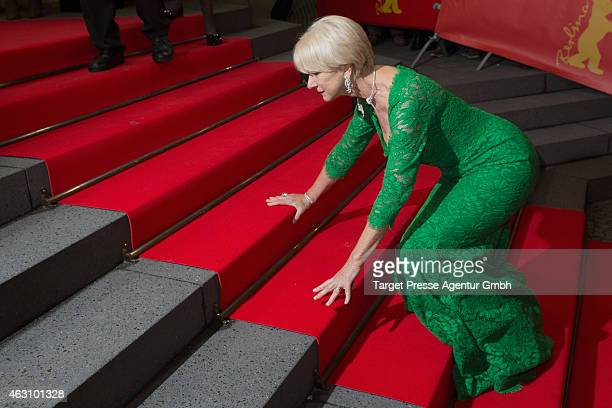Helen Mirren attends the 'Woman in Gold' premiere during the 65th Berlinale International Film Festival at FriedrichstadtPalast on February 9 2015 in...