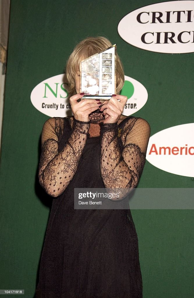 Helen Mirren Best British Actress, London Film Critics Circle Awards 2002, At The Dorchester Hotel, London