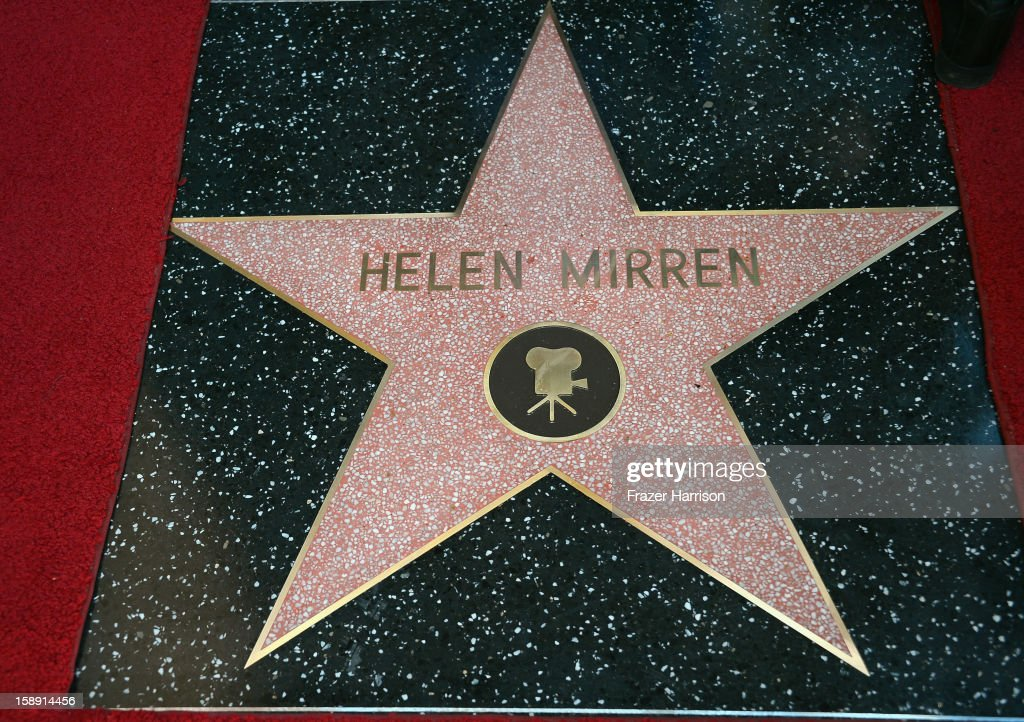 Helen Mirren Honored On The Hollywood Walk Of Fame on January 3, 2013 in Hollywood, California.