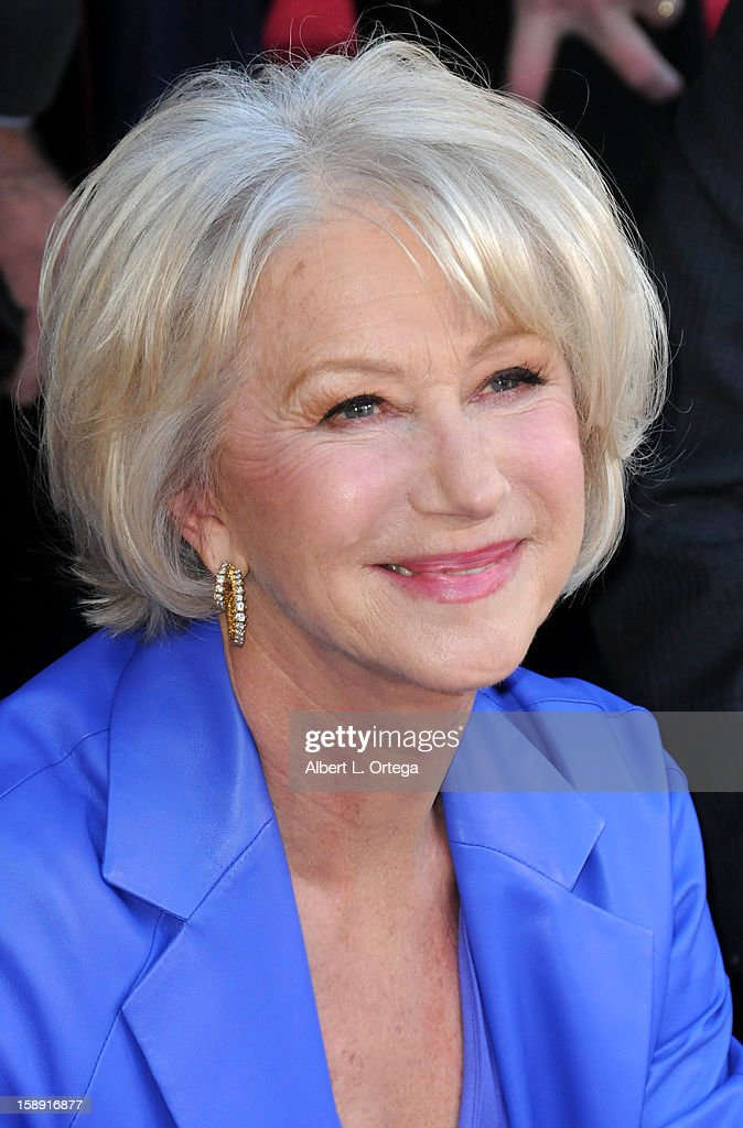 Helen Mirren is honored on the Hollywood Walk of Fame on January 3, 2013 in Hollywood, California.