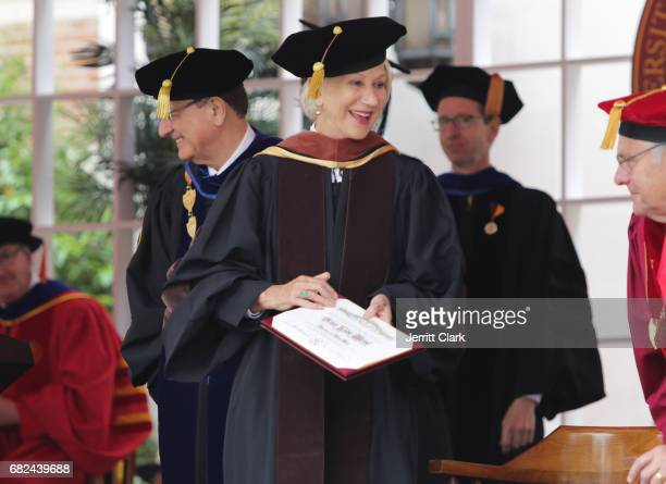 Helen Mirren is presented with an Honorary Doctorate Degree during the University Of Southern California 134th Commencement Ceremonies at The Shrine...