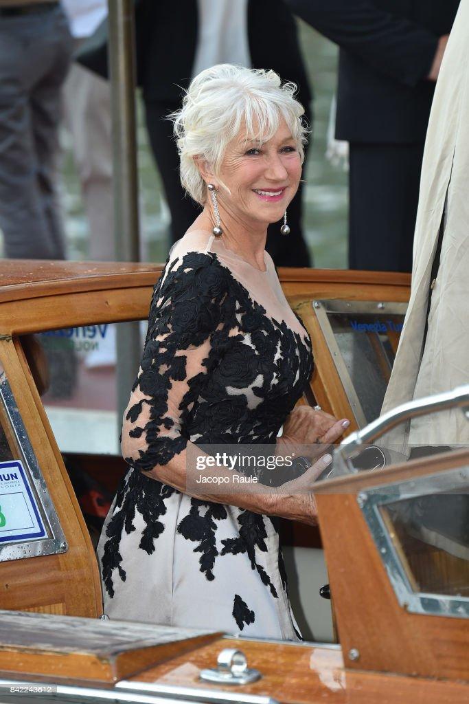 Helen Mirren is seen during the 74. Venice Film Festival on September 3, 2017 in Venice, Italy.