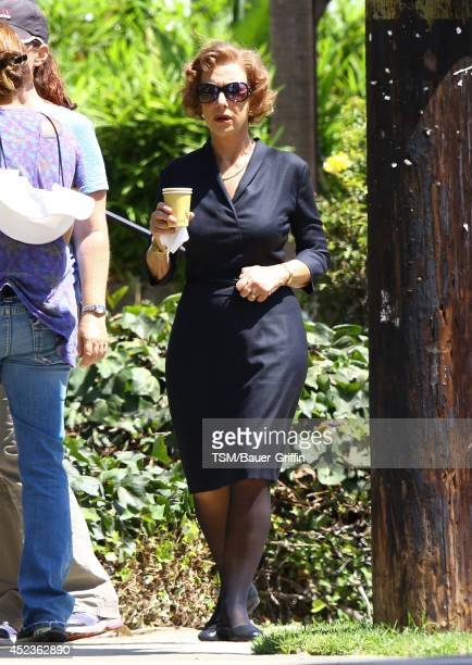 Helen Mirren is seen filming 'The Woman in Gold' on July 18 2014 in Los Angeles California