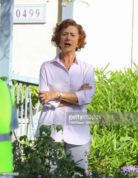 Helen Mirren is seen filming 'The Woman in Gold' on July 18 2014 in Los Angeles California
