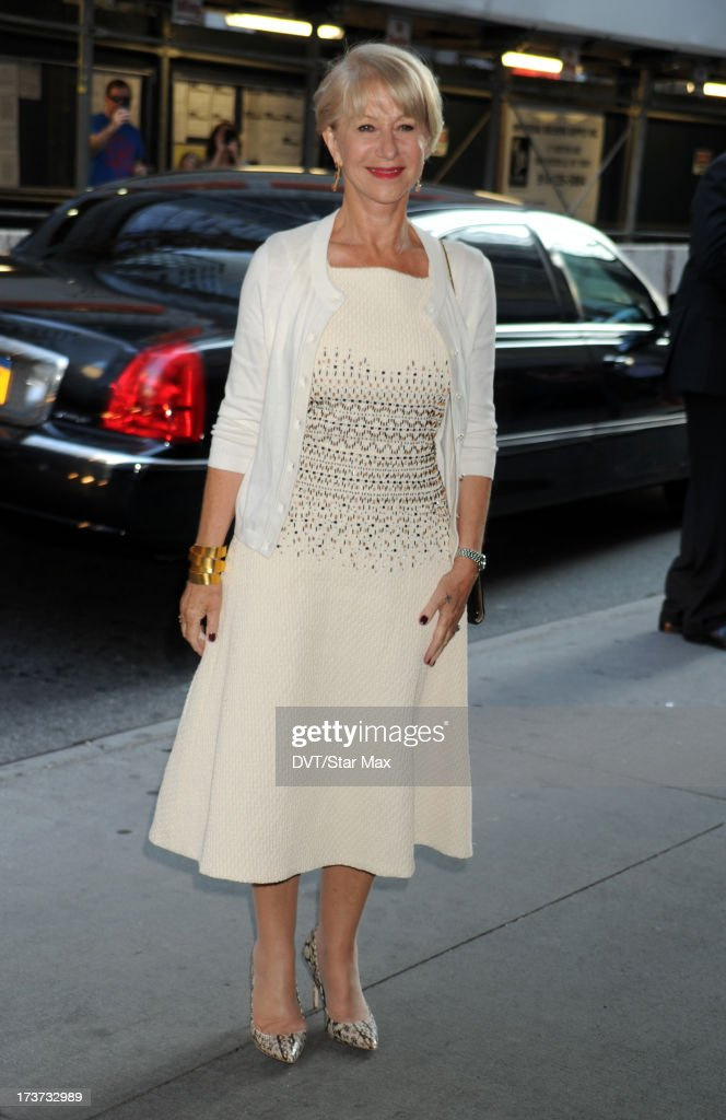 Helen Mirren is sighted on July 16, 2013 in New York City.