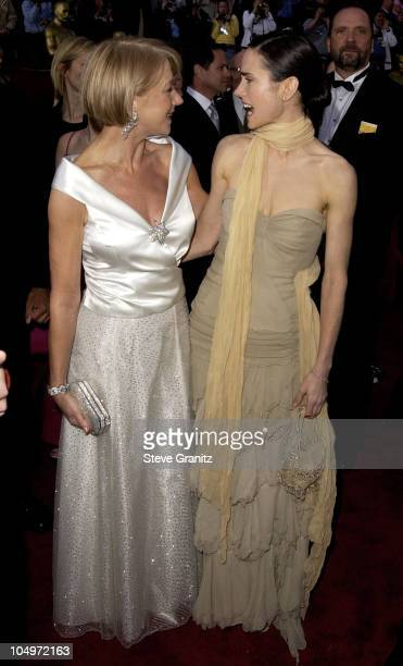 Helen Mirren Jennifer Connelly during The 74th Annual Academy Awards Arrivals at Kodak Theater in Hollywood California United States