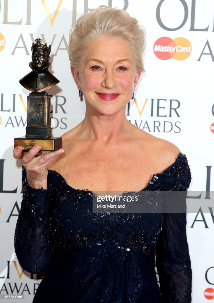 <a gi-track='captionPersonalityLinkClicked' href=/galleries/search?phrase=Helen+Mirren&family=editorial&specificpeople=201576 ng-click='$event.stopPropagation()'>Helen Mirren</a> poses in the press room at The Laurence Olivier Awards at The Royal Opera House on April 28, 2013 in London, England.