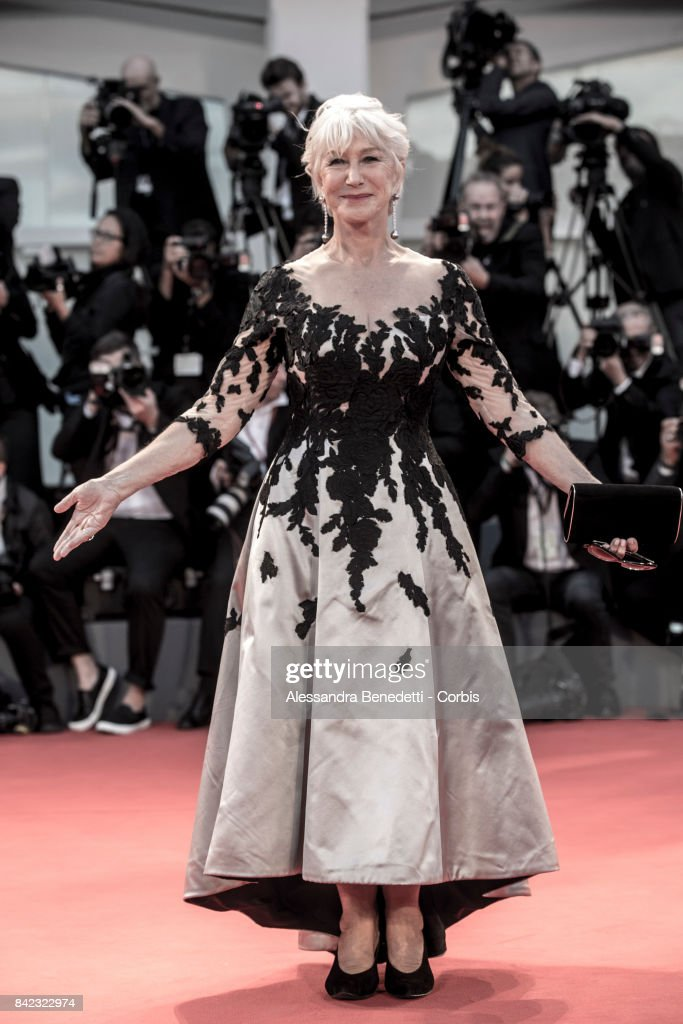 Helen Mirren walks the red carpet ahead of the 'The Leisure Seeker (Ella & John)' screening during the 74th Venice Film Festival at Sala Grande on September 3, 2017 in Venice, Italy.