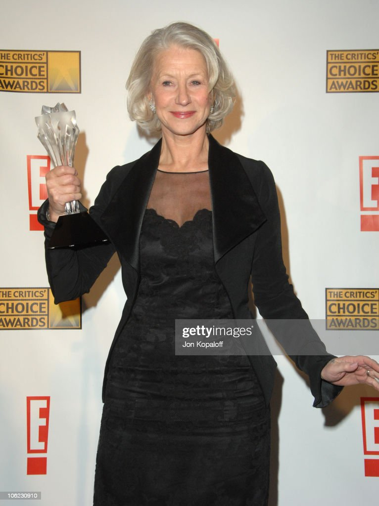 <a gi-track='captionPersonalityLinkClicked' href=/galleries/search?phrase=Helen+Mirren&family=editorial&specificpeople=201576 ng-click='$event.stopPropagation()'>Helen Mirren</a>, winner Best Actress for 'The Queen' during 12th Annual Critics' Choice Awards - Press Room at Santa Monica Civic Auditorium in Santa Monica, California, United States.