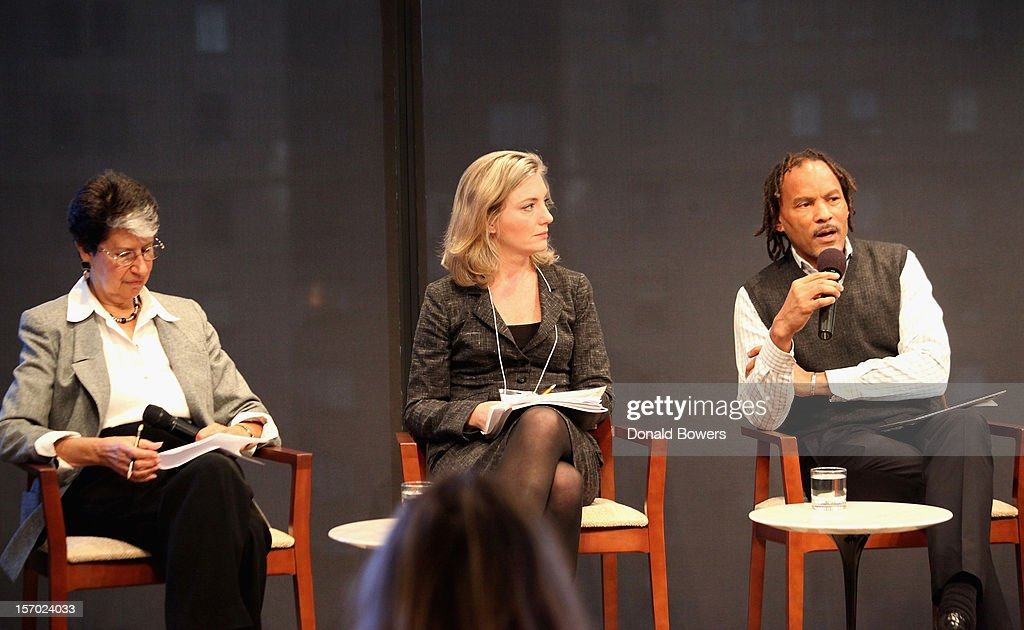 Helen Neuborne, Kristen Rowe-Finkbeiner and Orlando Bagwell speak during a panel at The Ford Foundation Hosts Day Of Discussion On The Hidden World Of Domestic Work In The US at Ford Foundation on November 27, 2012 in New York City.