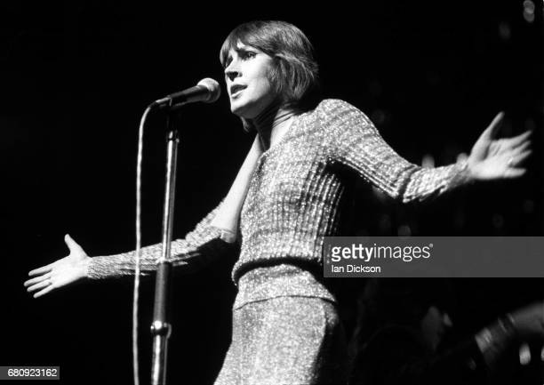 Helen Reddy performing on stage London 1974