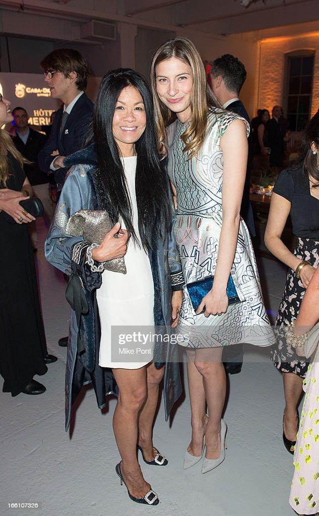 Helen Schifter and Sylvana Durett attend Ballroom Marfa 10th Year Celebration at Center 548 on April 8, 2013 in New York City.