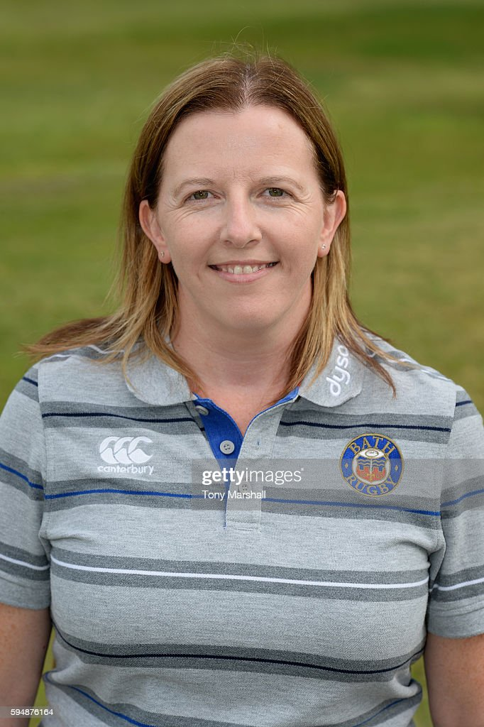 Helen Shand Medical Administrator poses for a portrait during the Bath Rugby squad photo call for the 20162017 Aviva Premiership Rugby season on...