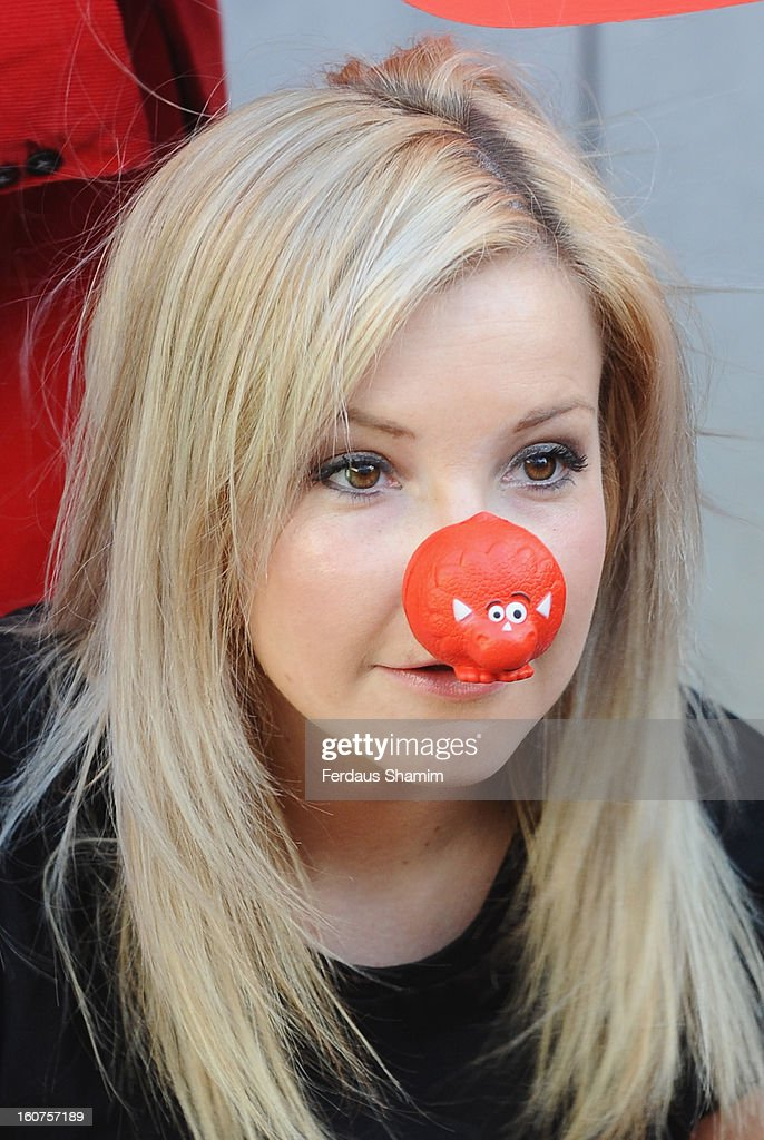 <a gi-track='captionPersonalityLinkClicked' href=/galleries/search?phrase=Helen+Skelton&family=editorial&specificpeople=5831127 ng-click='$event.stopPropagation()'>Helen Skelton</a> attends a photocall to celebrate 25 yeas of Red Nose Day for Comic Relief at Southbank Centre on February 5, 2013 in London, England.