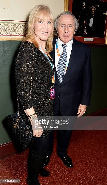 Helen Stewart and Jackie Stewart attend the VIP performance of 'Kooza' by Cirque Du Soleil at Royal Albert Hall on January 6 2015 in London England
