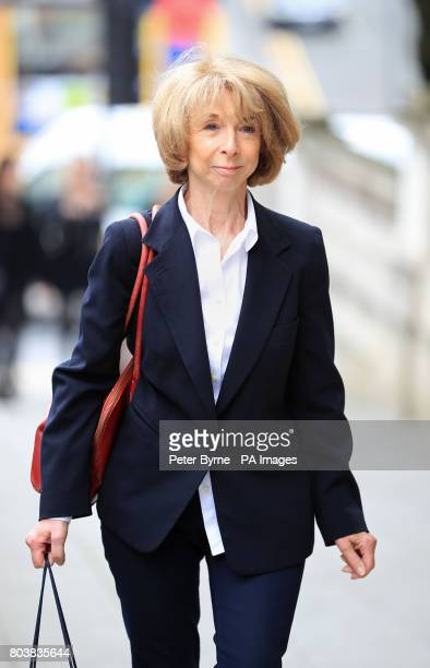 Helen Worth who plays Gail McIntyre in Coronation Street arrives at the funeral service of Martyn Hett who was killed in the Manchester Arena bombing...