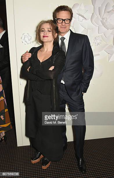 Helena Bonham Carter and Colin Firth attend the Green Carpet Challenge 2016 BAFTA Night to Remember on September 18 2016 in London England