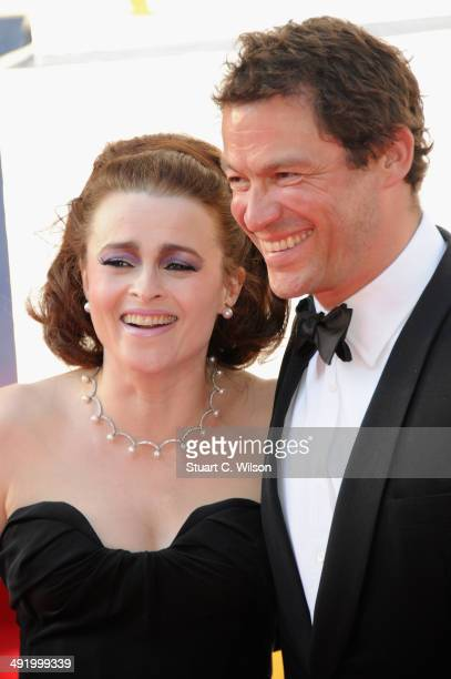 Helena Bonham Carter and Dominic West attend the Arqiva British Academy Television Awards at Theatre Royal on May 18 2014 in London England
