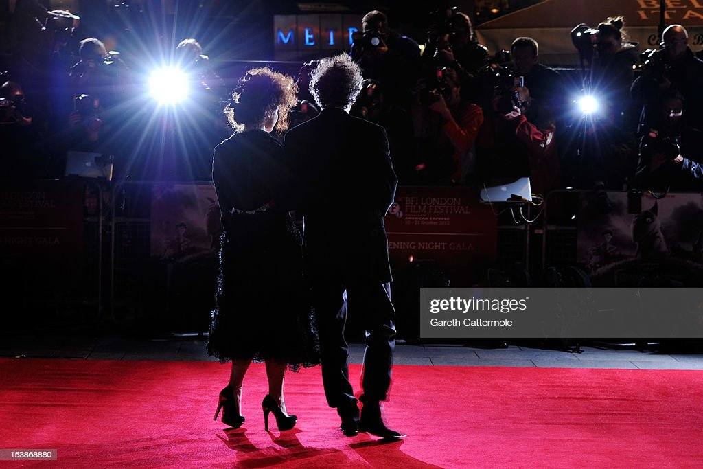Helena Bonham Carter and filmmaker Tim Burton attends the opening night film of the 56th BFI London Film Festival 'Frankenweenie 3D' at Odeon...