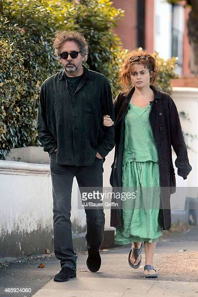 Helena Bonham Carter and her husband Tim Burton are seen on September 18 2012 in London United Kingdom
