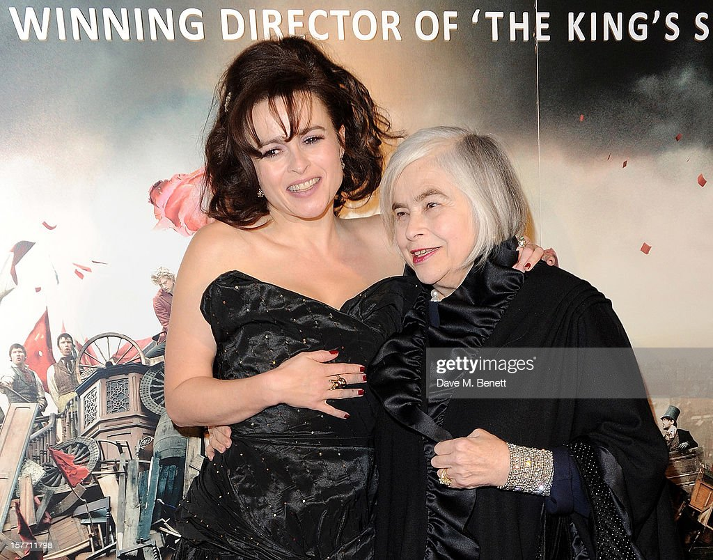Helena Bonham Carter (L) and mother Elena attend an after party following the World Premiere of 'Les Miserables' at The Roundhouse on December 5, 2012 in London, England.