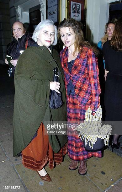 Helena Bonham Carter and mother Elena *Exclusive*