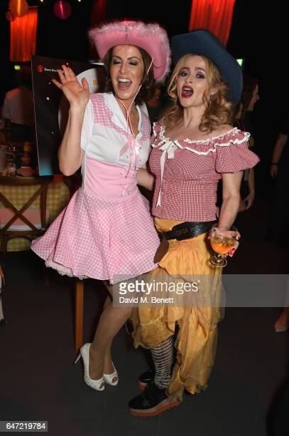 Helena Bonham Carter and Natasha Kaplinsky attend at a Night of Country at The Roundhouse on March 2 2017 in London England