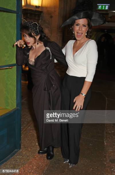 Helena Bonham Carter and Natasha Kaplinsky attend Save The Children's Magical Winter Gala celebrating the 20th anniversary since the publication of...