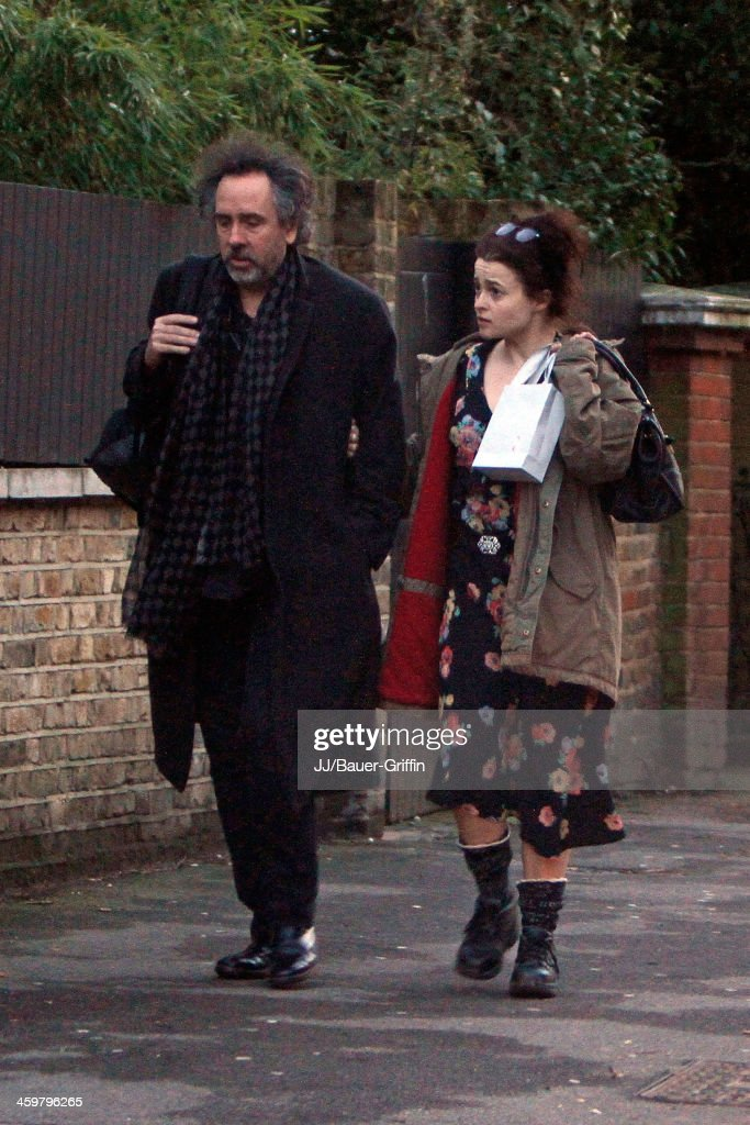 Helena Bonham Carter and Tim Burton are seen on March 20 2013 in London United Kingdom
