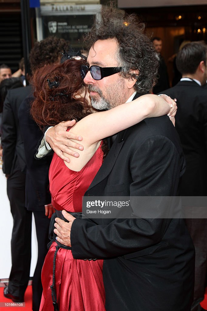 Helena Bonham Carter and Tim Burton arrive at The Philips British Academy Television Awards held at The Palladium on June 6, 2010 in London, England.