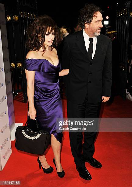 Helena Bonham Carter and Tim Burton attend the 56th BFI London Film Festival Awards at the Banqueting House on October 20 2012 in London England