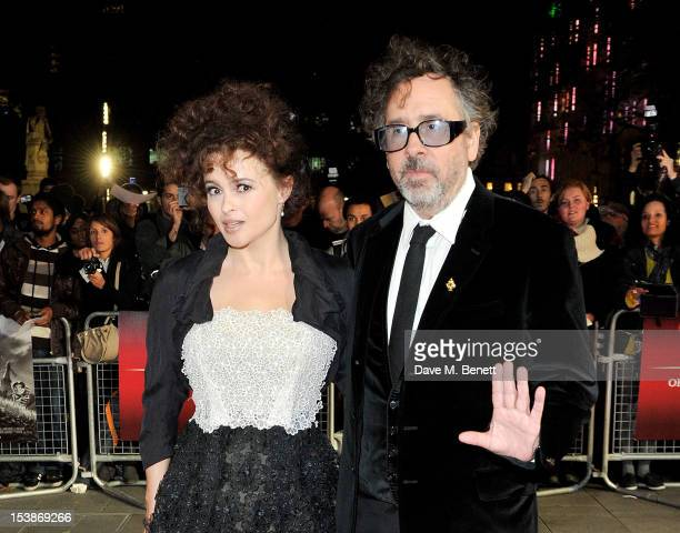 Helena Bonham Carter and Tim Burton attend the Premiere of 'Frankenweenie' as the Opening Film of the 56th BFI London Film Festival at Odeon...