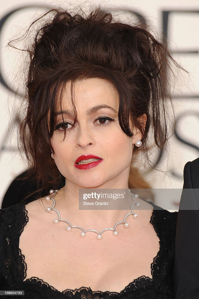 Helena Bonham Carter arrives at the 70th Annual Golden Globe Awards at The Beverly Hilton Hotel on January 13, 2013 in Beverly Hills, California.