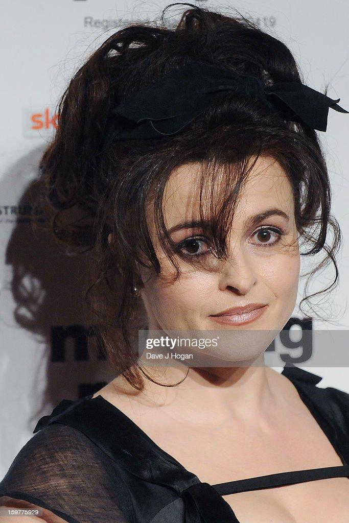 Helena Bonham Carter arrives for the London Film Critics Circle Film Awards at The Mayfair Hotel on January 20, 2013 in London, England.