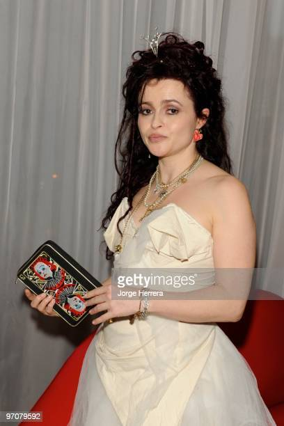 Helena Bonham Carter arrives for the Royal world premiere 'Alice In Wonderland' after party at The Sanderson Hotel on February 25 2010 in London...