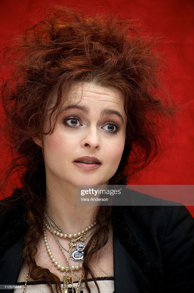 Helena Bonham Carter at the 'Alice In Wonderland' press conference at the Renaissance Hollywood Hotel on February 20, 2010 in Hollywood, California.