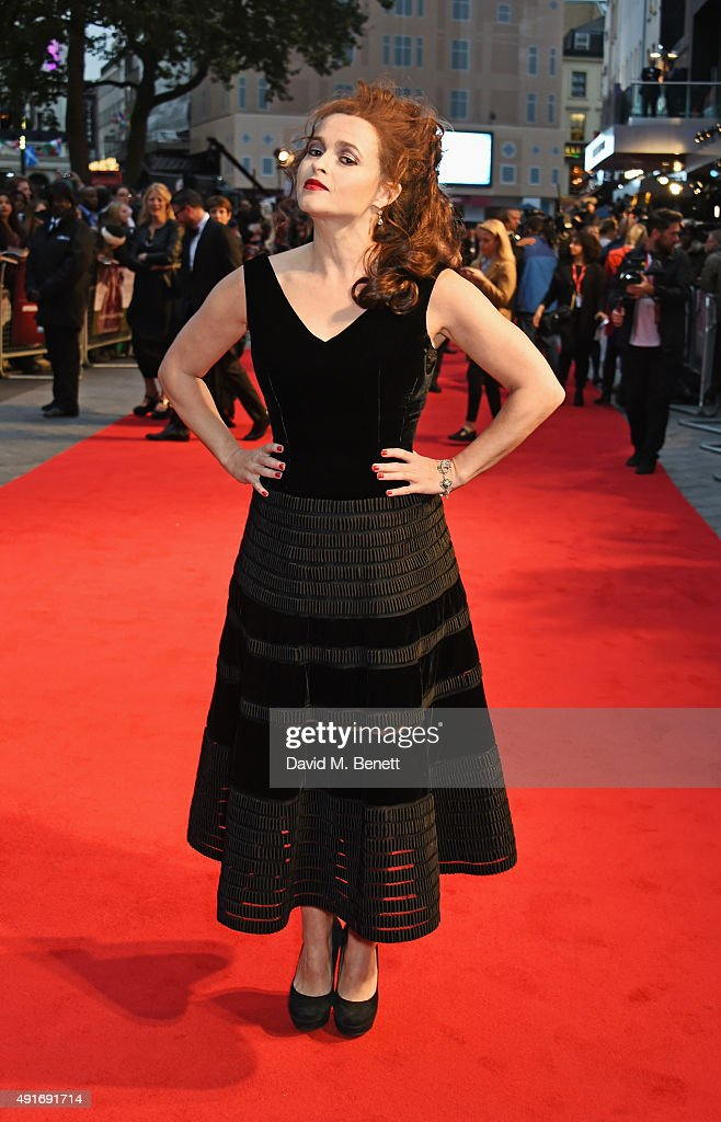 Helena Bonham Carter attends a screening of 'Suffragette' on the opening night of the BFI London Film Festival at Odeon Leicester Square on October 7, 2015 in London, England.