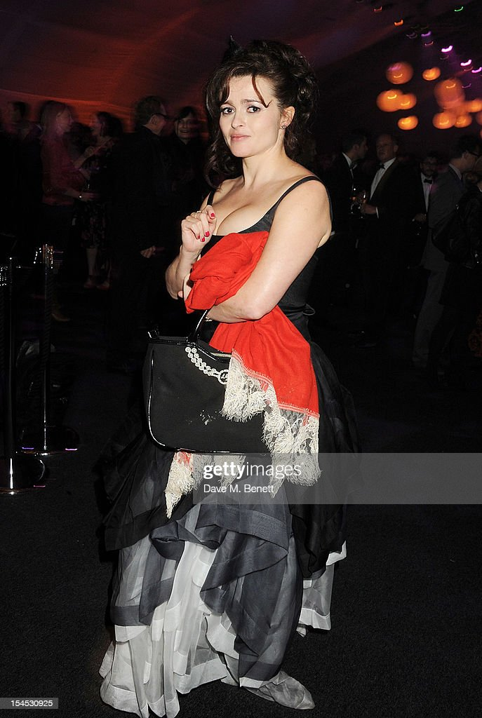 Helena Bonham Carter attends an after party following the Gala Premiere of 'Great Expectations' which closes the 56th BFI London Film Festival at Battersea Power station on October 21, 2012 in London, England.