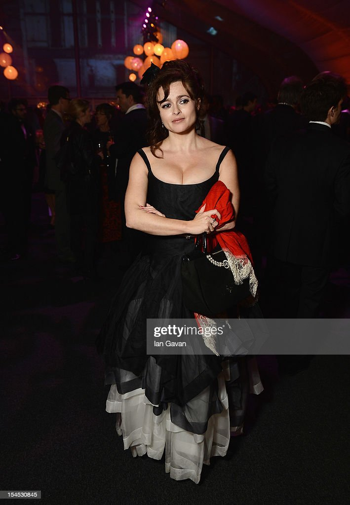 Helena Bonham Carter attends the afterparty for 'Great Expectations' which closes the 56th BFI London Film Festival at Battersea Power Station on October 21, 2012 in London, England.
