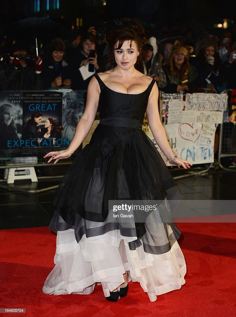 Helena Bonham Carter attends the Closing Night Gala of 'Great Expectations' during the 56th BFI London Film Festival at Odeon Leicester Square on October 21, 2012 in London, England.
