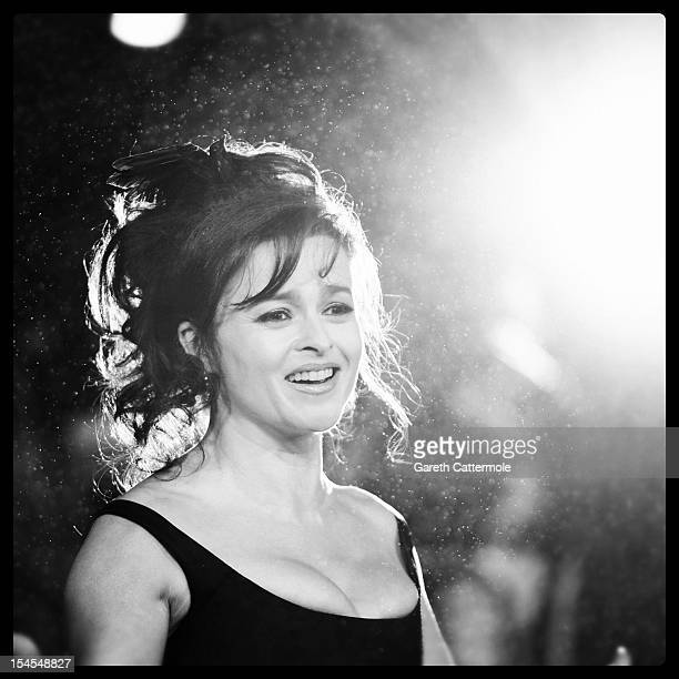 Helena Bonham Carter attends the Closing Night Gala of 'Great Expectations' during the 56th BFI London Film Festival at Odeon Leicester Square on...