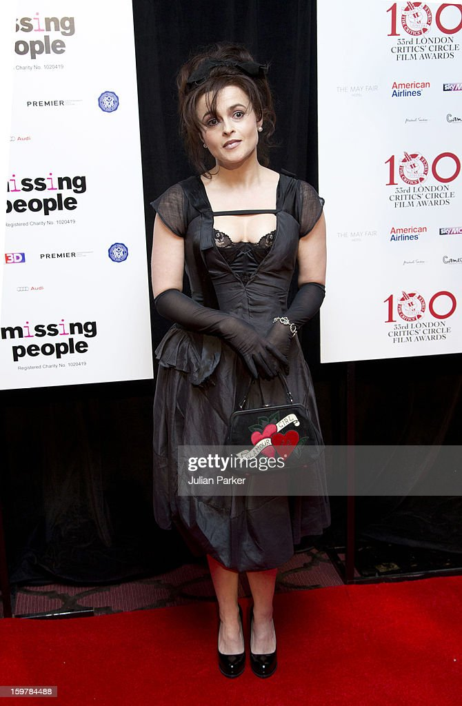 <a gi-track='captionPersonalityLinkClicked' href=/galleries/search?phrase=Helena+Bonham+Carter&family=editorial&specificpeople=210567 ng-click='$event.stopPropagation()'>Helena Bonham Carter</a>, attends the London Critics' Circle Film Awards at The Mayfair Hotel on January 20, 2013 in London, England.