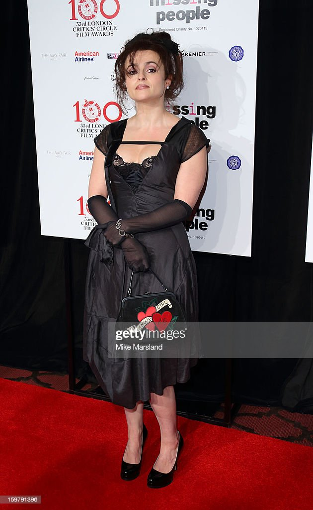 <a gi-track='captionPersonalityLinkClicked' href=/galleries/search?phrase=Helena+Bonham+Carter&family=editorial&specificpeople=210567 ng-click='$event.stopPropagation()'>Helena Bonham Carter</a> attends the London Film Critics Circle Film Awards at The Mayfair Hotel on January 20, 2013 in London, England.