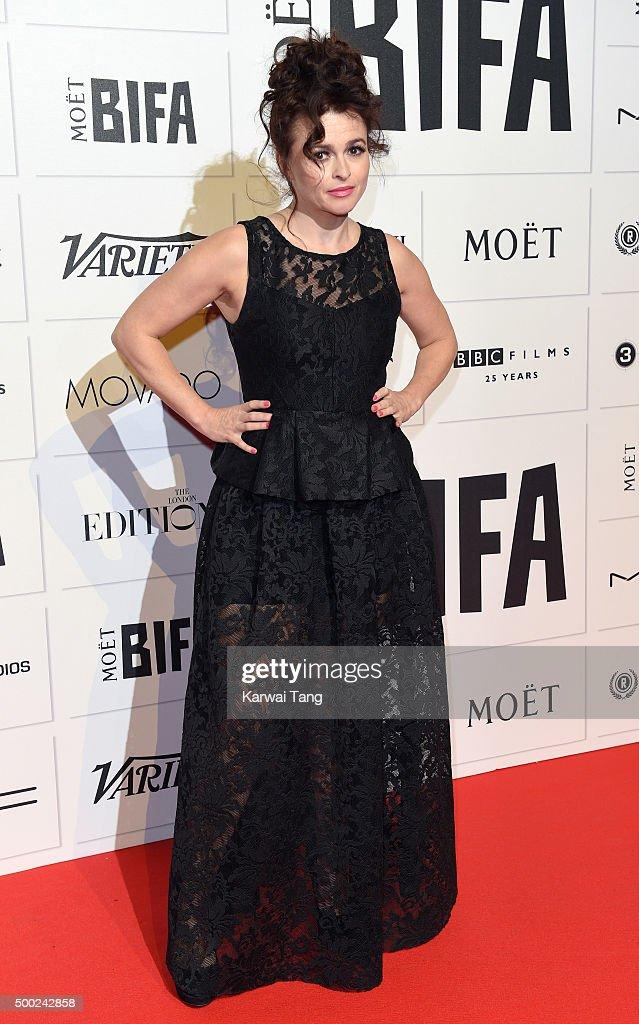 Helena Bonham Carter attends the Moet British Independent Film Awards at Old Billingsgate Market on December 6, 2015 in London, England.