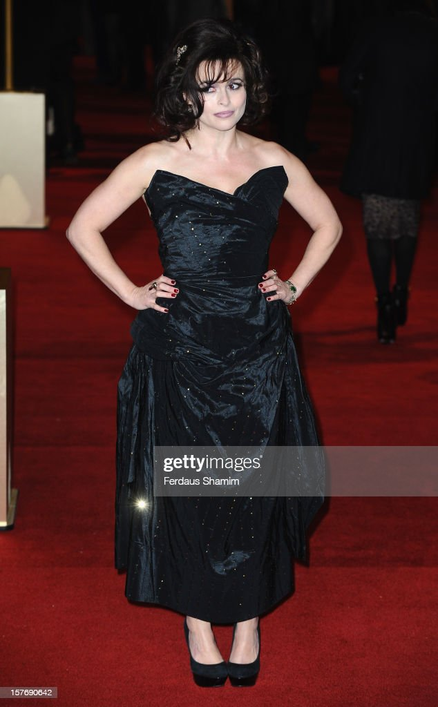 Helena Bonham carter attends the World Premiere of 'Les Miserables' at Odeon Leicester Square on December 5, 2012 in London, England.